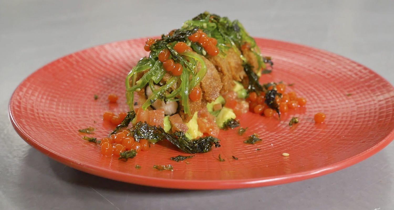 receta tataki de pollo con alga nori
